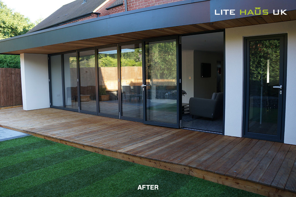 After transformation from a bifold door installation