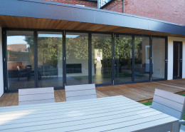 Schuco 7 Leaf Bi-Fold Door