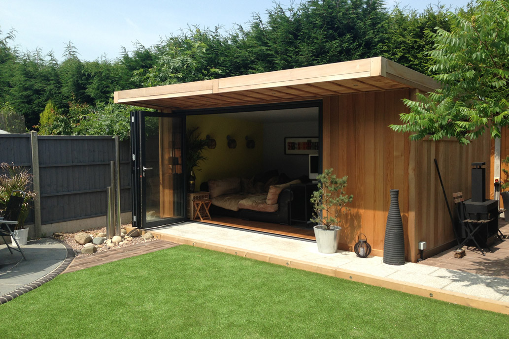 Small garden extension with bifold doors