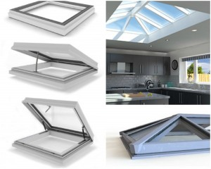 Contemporary rooflights in a home