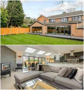 Exterior and interior look at a home with aluminium windows and doors