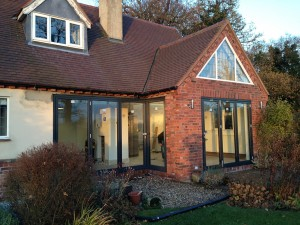 A house installed with aluminium windows and doors