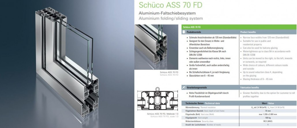 U-Values and thermal efficiency of Schuco bifold