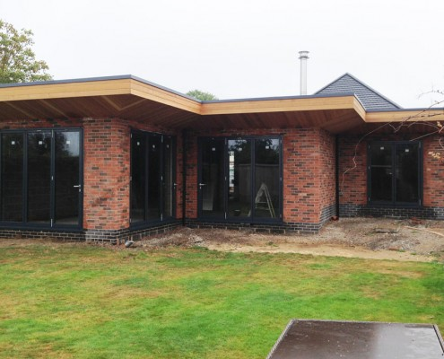 Bifolding doors installed on a home extension