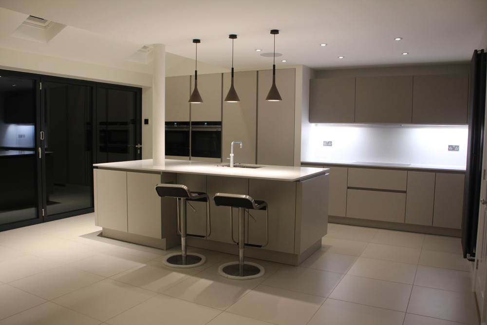5 Panel Shuco doors fitted in a kitchen