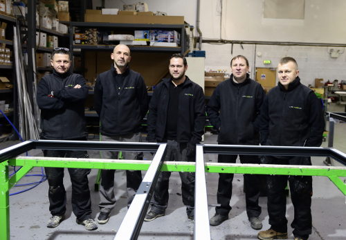 Members of the Lite Haus UK team on the shop floor
