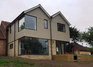 Aluminium windows installed into a home