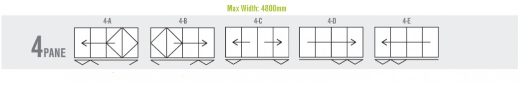 4 panel bi-folding door configuration