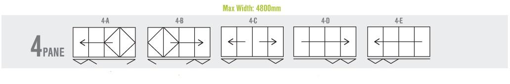 4 Panel Bi Folding Door Configuration