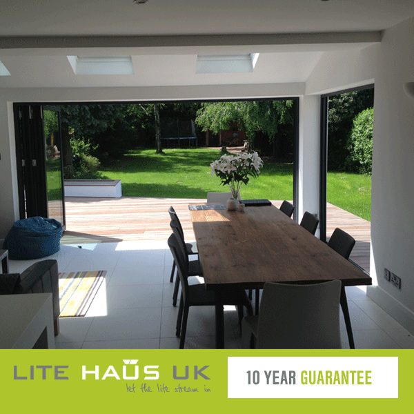 Bifold doors with a 10 year guarantee