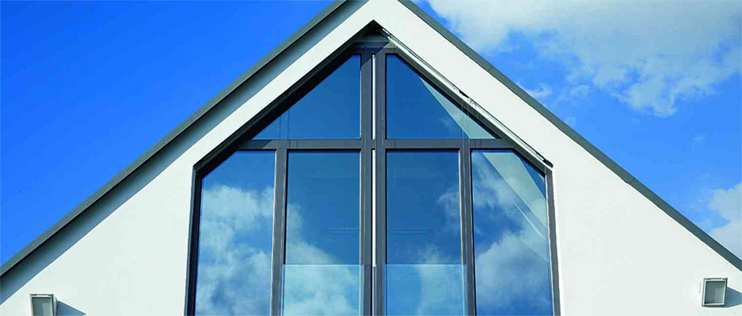 close up of aluminium windows