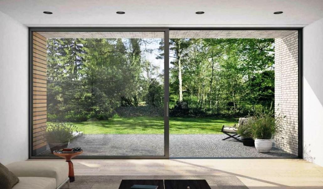 Schuco aluminium sliding patio door