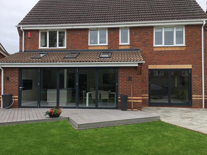 house with a bifold doors