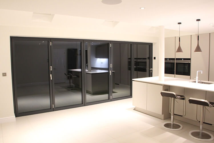 kitchen with bifold doors
