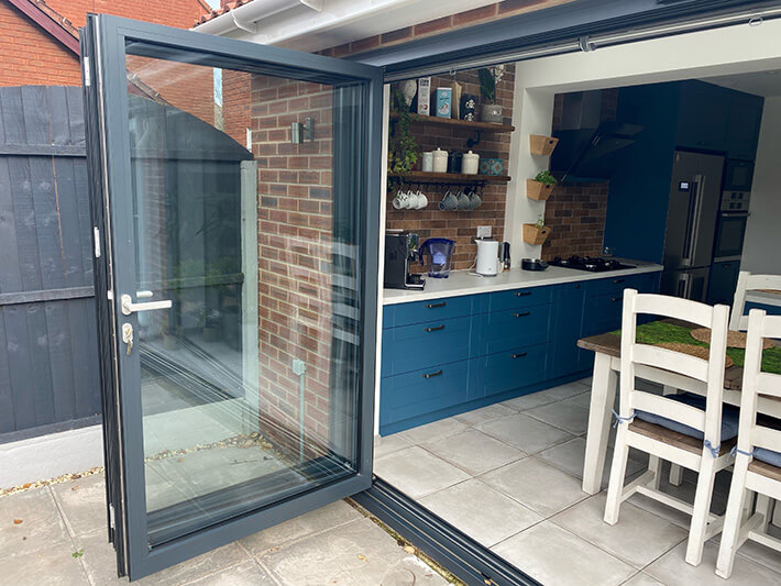 open bifold doors